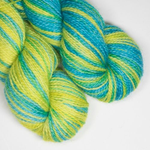 <!-- 004 --> 4ply BFL and Mohair - Neon  SD