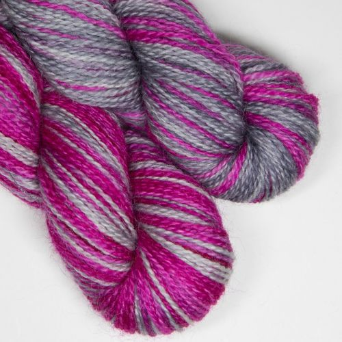<!-- 004 --> 4ply BFL and Mohair - Pretty in Pink  SD