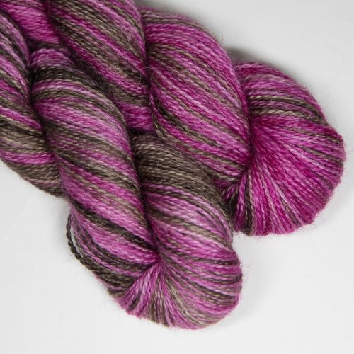 <!-- 004 --> 4ply BFL and Mohair - Raspberry Truffle SD