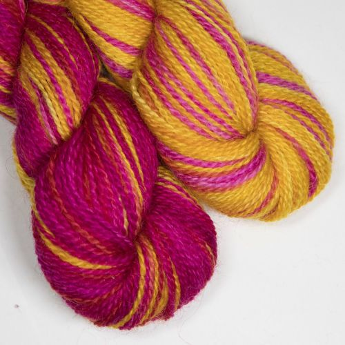 <!-- 004 --> 4ply BFL and Mohair - Tequila Sunrise SD