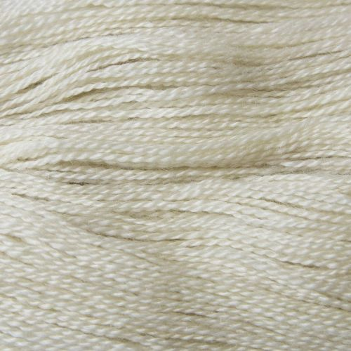 <!-- 002 -->  4ply BFL and Mohair - Palest Cream 19M
