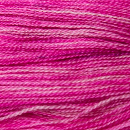 <!-- 002 -->  4ply BFL and Mohair - Raspberry 19M50