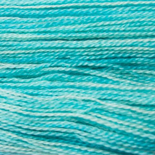 <!-- 002 -->  4ply BFL and Mohair - Turquoise 19M50