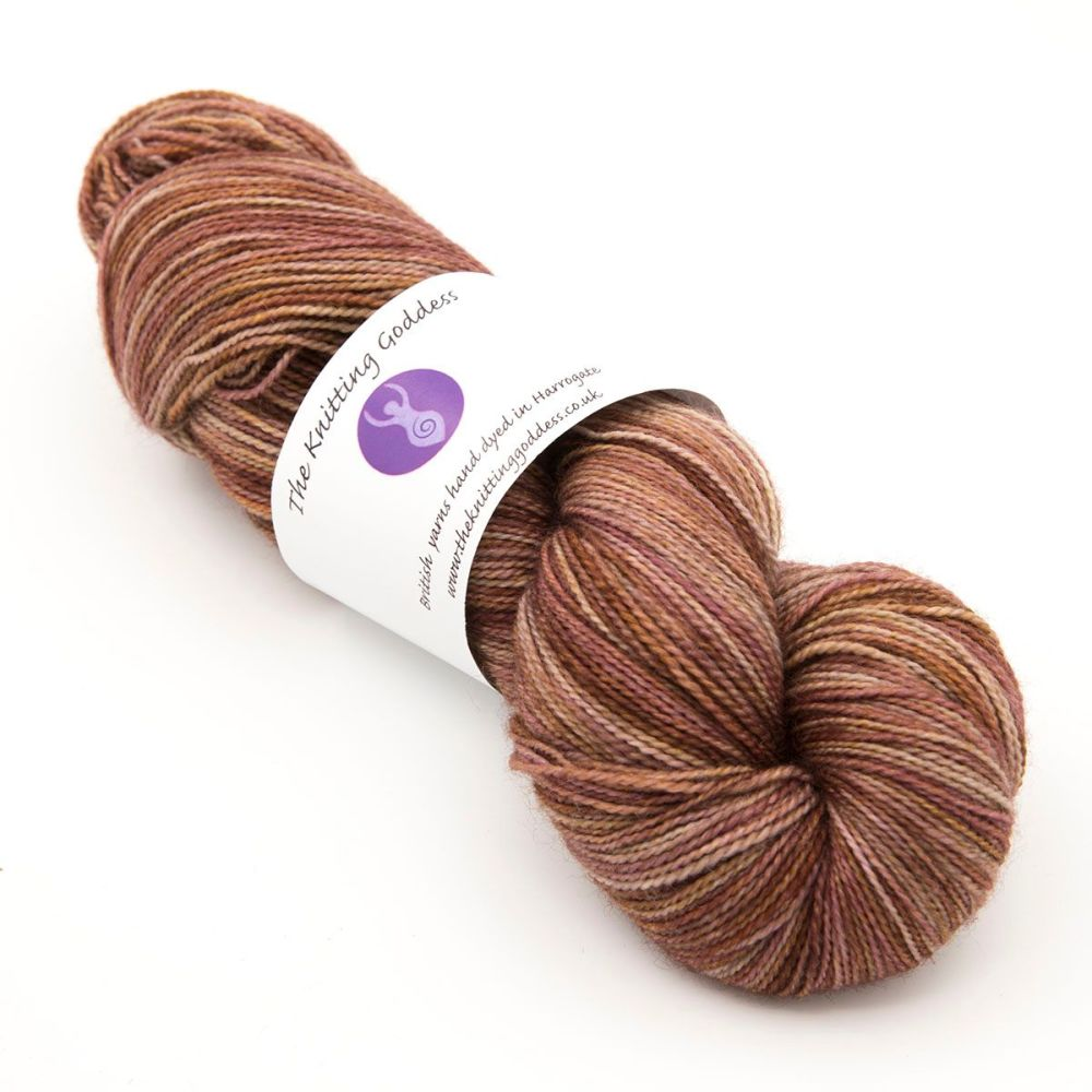 <!-- 003 -->4ply BFL & nylon - Brick 19M
