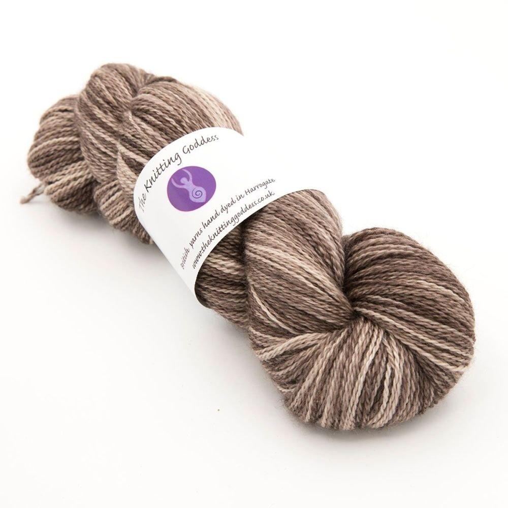 <!-- 002 -->4ply BFL, silk and alpaca - Chocolate 18D