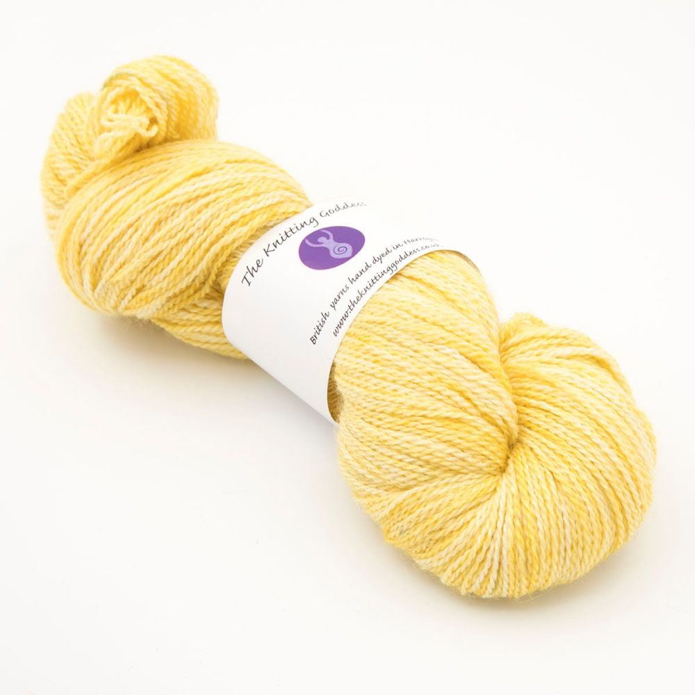 <!-- 002 -->4ply BFL, silk and alpaca - Gold 18AA