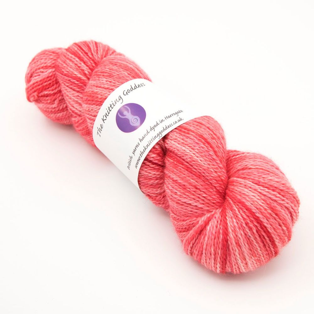 4ply BFL, silk and alpaca - Red