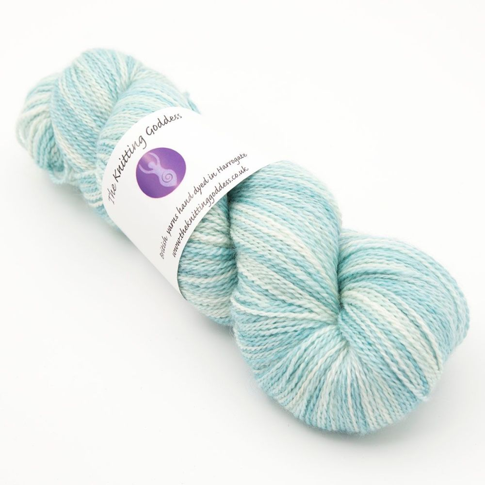 <!-- 002 -->4ply BFL, silk and alpaca - Sea Foam 18AA