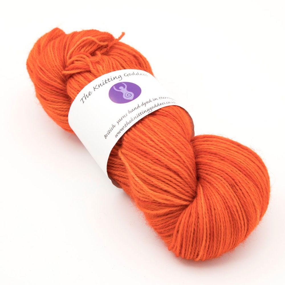 4ply Britsock - Screaming Orange