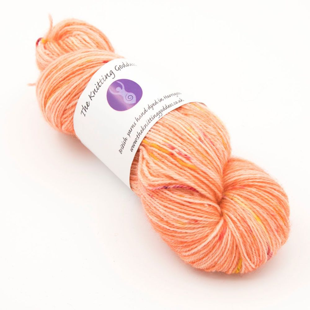 4ply Britsock - Goddess Splodge Orange 19P