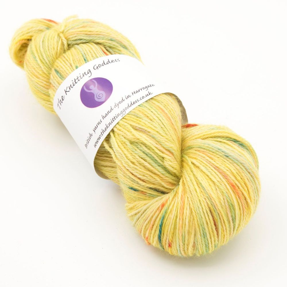 4ply Britsock - Goddess Splodge Yellow 19P