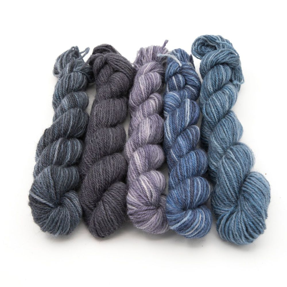 Britsock  Mini Skeins - Moody Blues