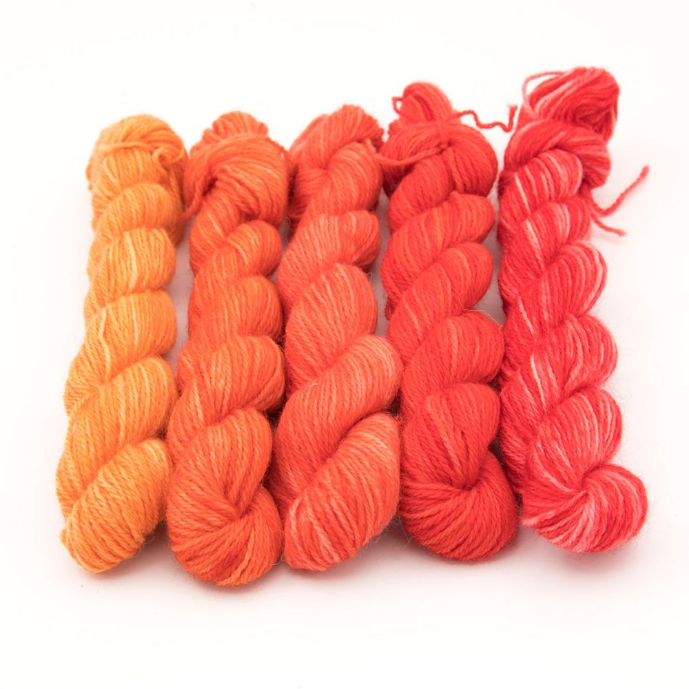 Britsock  Mini Skeins - Red and Orange