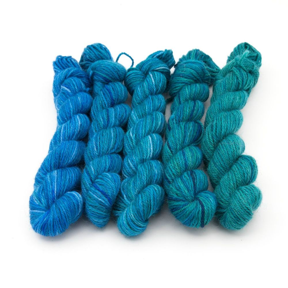 Britsock  Mini Skeins - Teal Collection