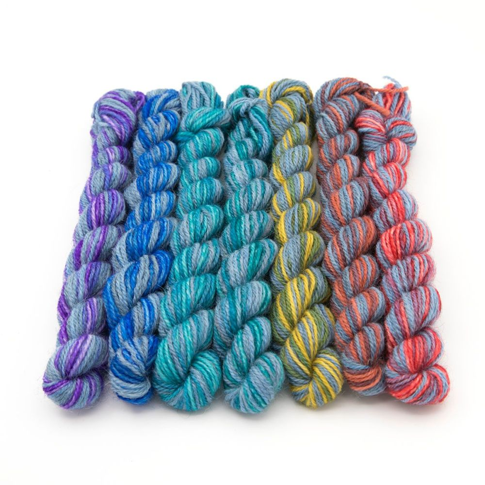Superhero Genes Rainbow mini skeins