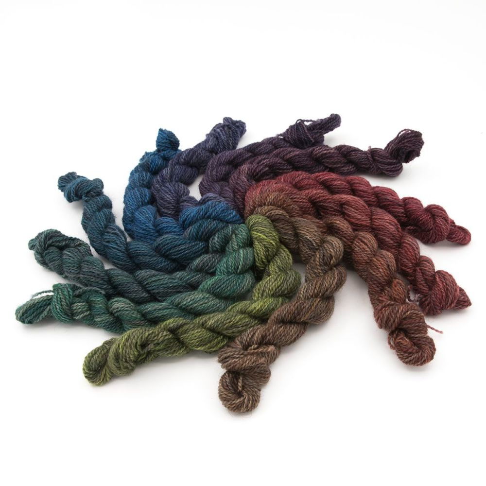 4ply BFL Masham colour wheel - Primary Shades