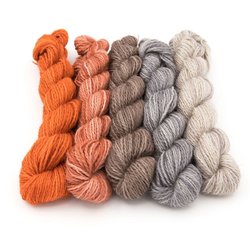 <!-- 004 -->One Farm Yarn - Foxy  mini skeins
