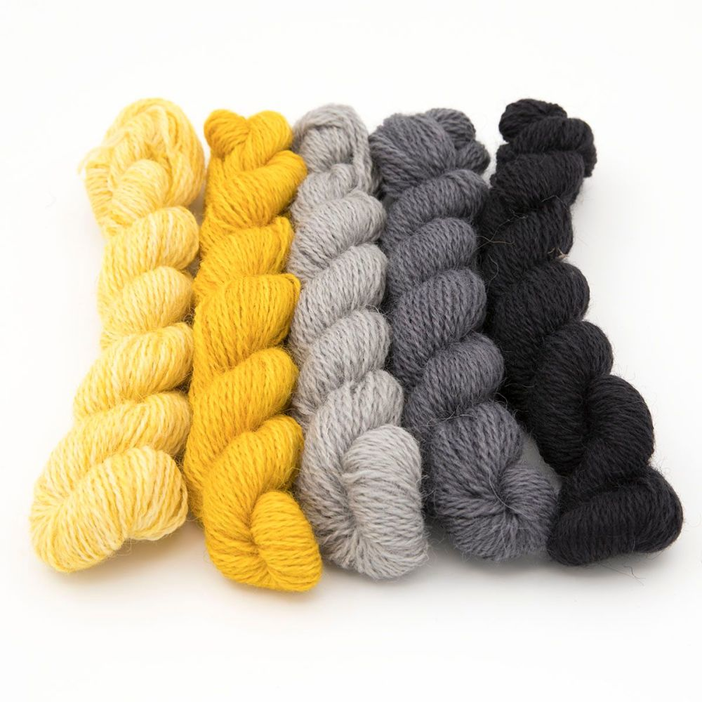 <!-- 004 -->One Farm Yarn - Grellow  mini skeins