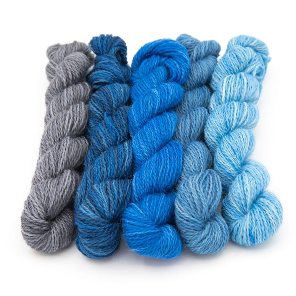 <!-- 004 -->One Farm Yarn - Storm Cloud mini skeins