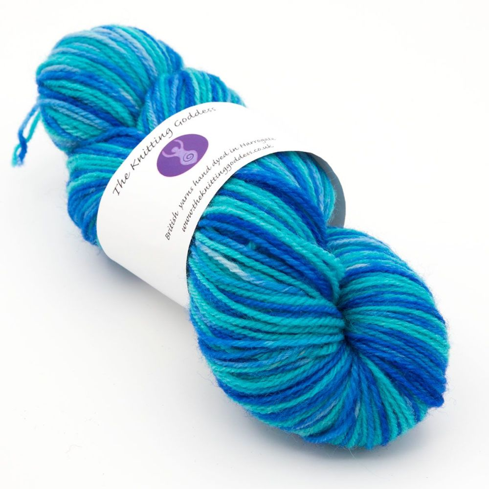 DK sock yarn - Blue and Turquoise 19B