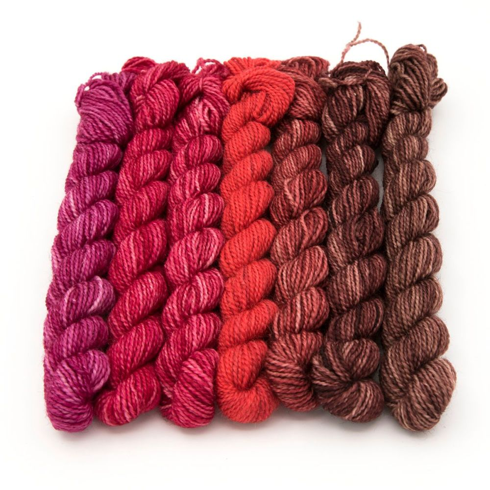 <!-- 012 --> 4ply BFL & nylon mini skeins- Love Wins