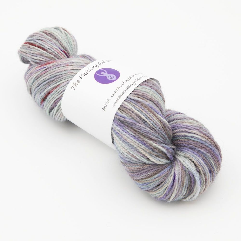 4ply Britsock - Ghost Splodge 20D