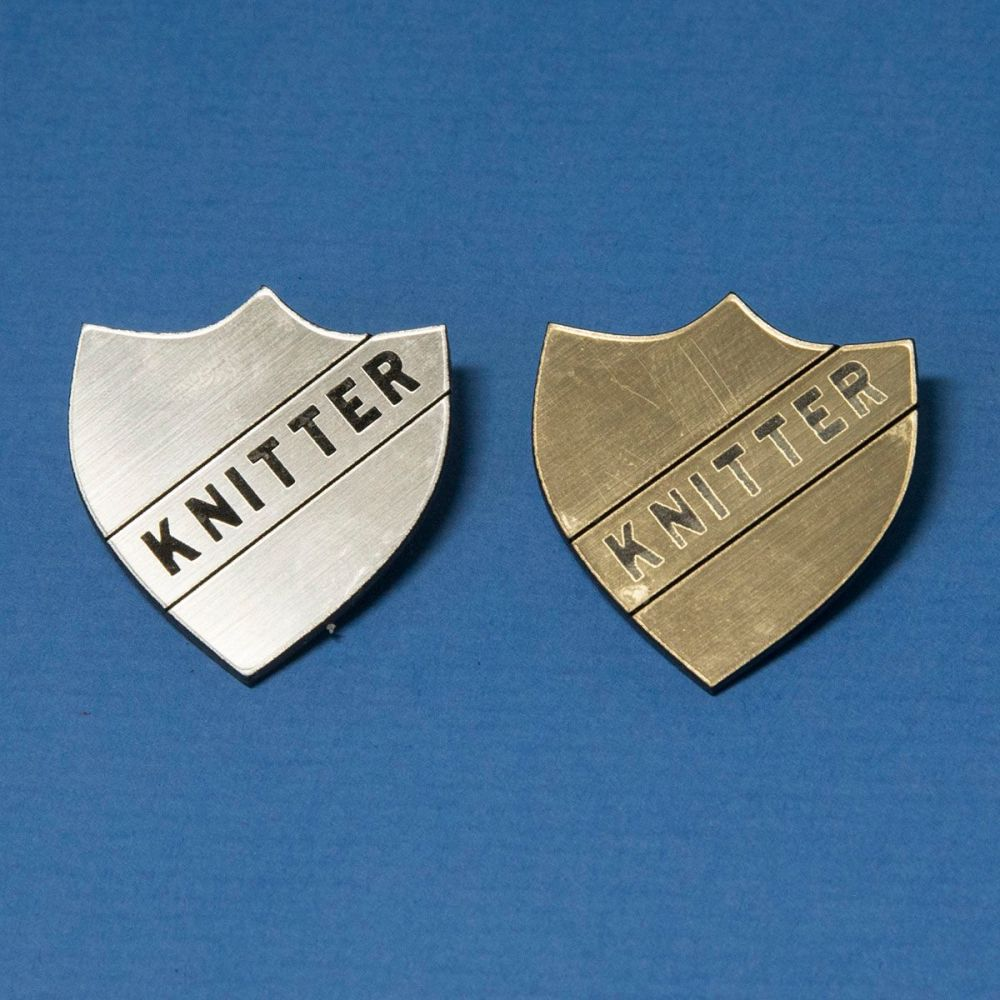 Perspex Knitter Badge