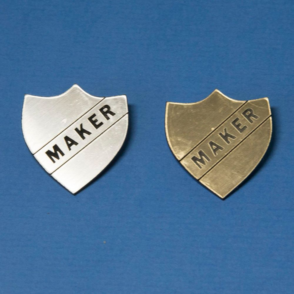 Perspex Maker Badge