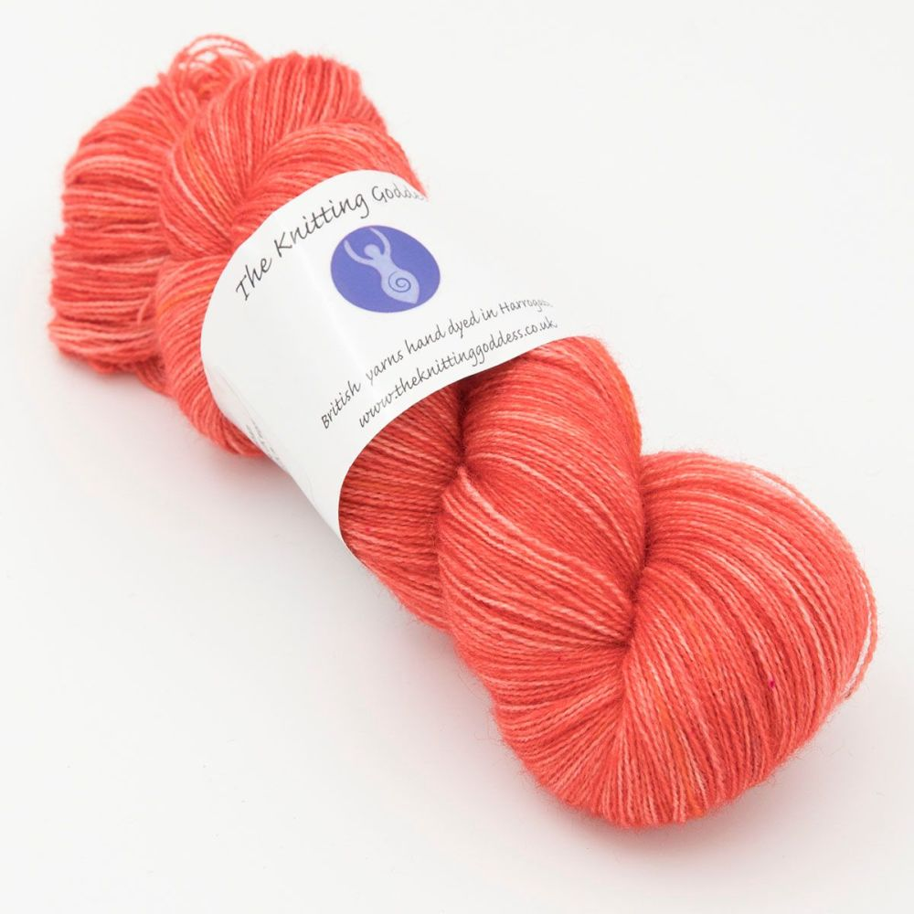 <!-- 001 -->Lace Weight BFL and Silk - Geranium