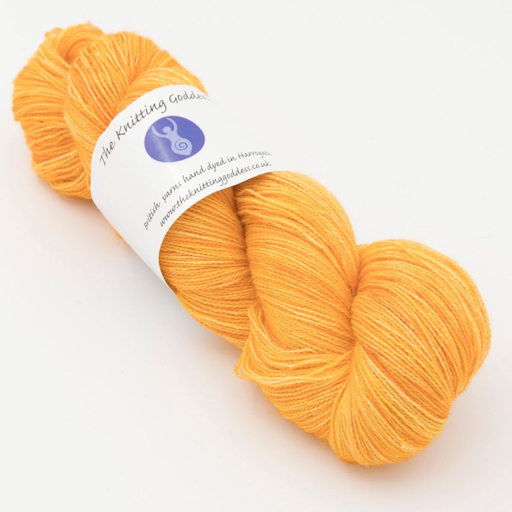 Moonbow Lace Weight BFL and Silk - Marigold
