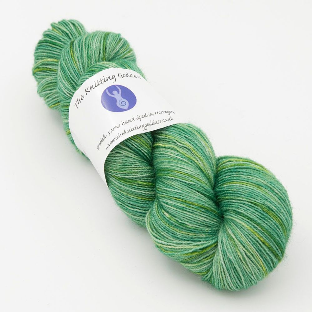 Moonbow Lace Weight BFL and Silk - Hellebore