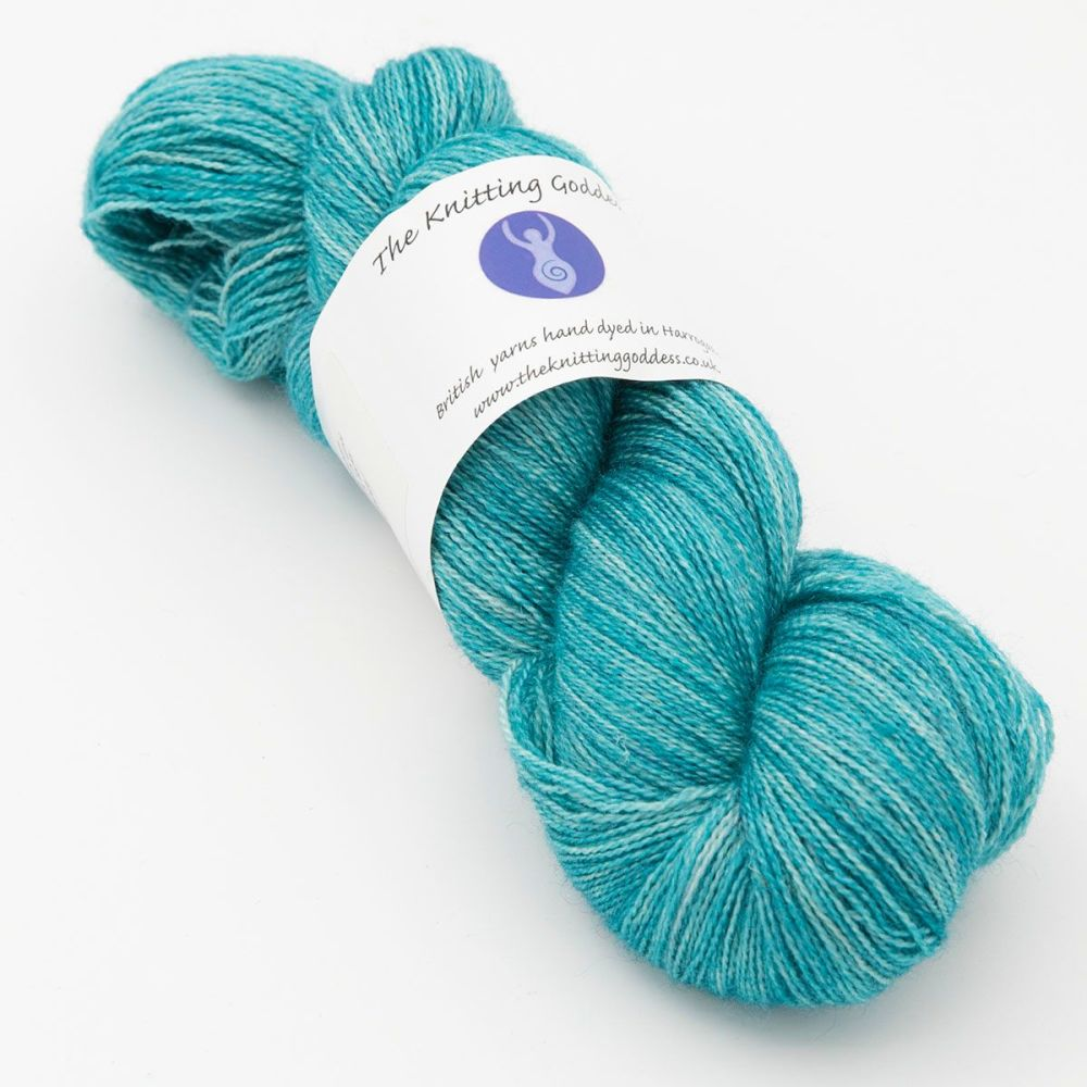 Moonbow Lace Weight BFL and Silk - Hydrangea
