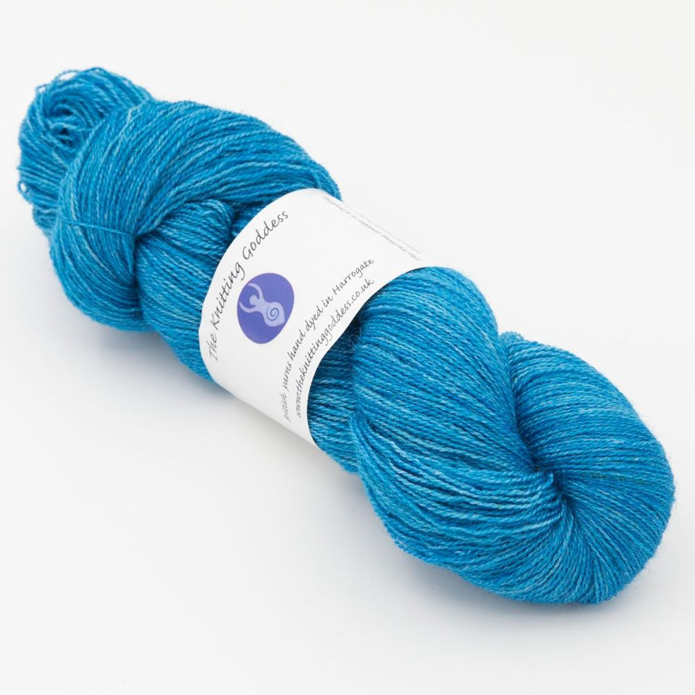 Moonbow Lace Weight BFL and Silk - Bluebell