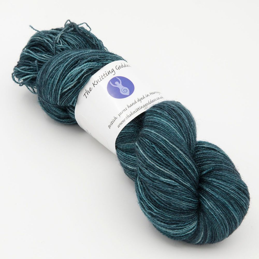 Moonbow Lace Weight BFL and Silk - Shaded Hydrangea