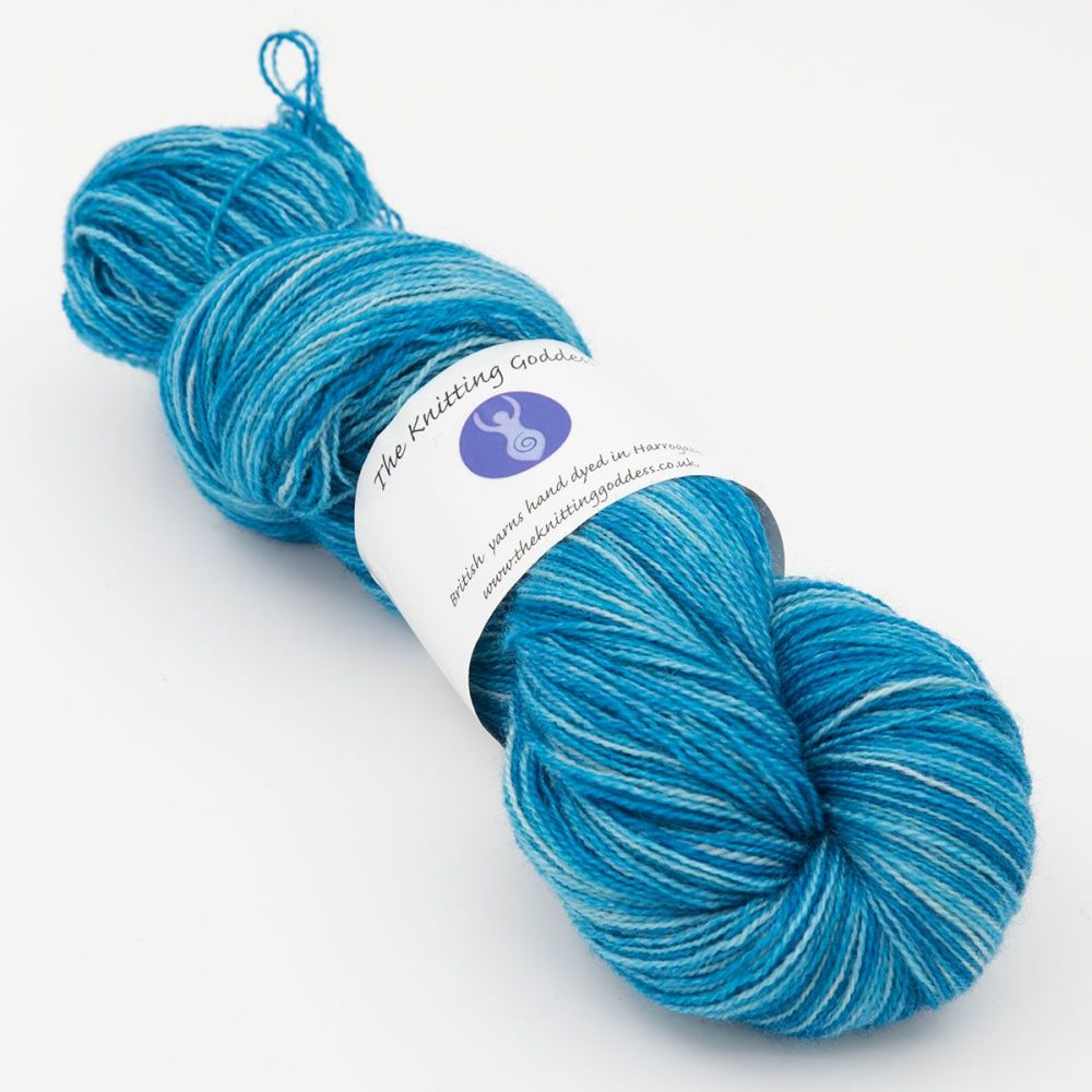 Moonbow Lace Weight BFL and Silk - Shaded Bluebell