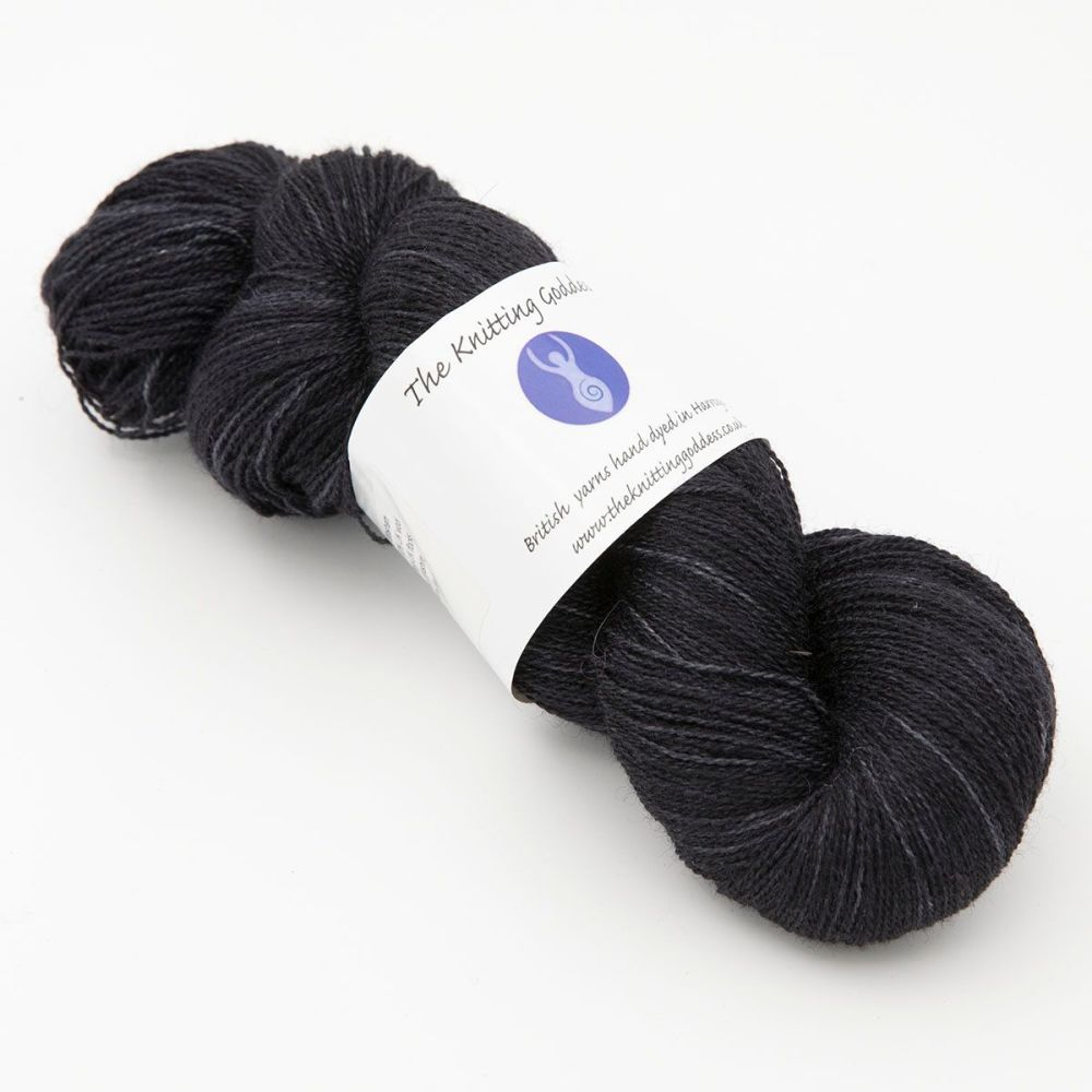 <!-- 017-->Lace Weight BFL and Silk -  Black