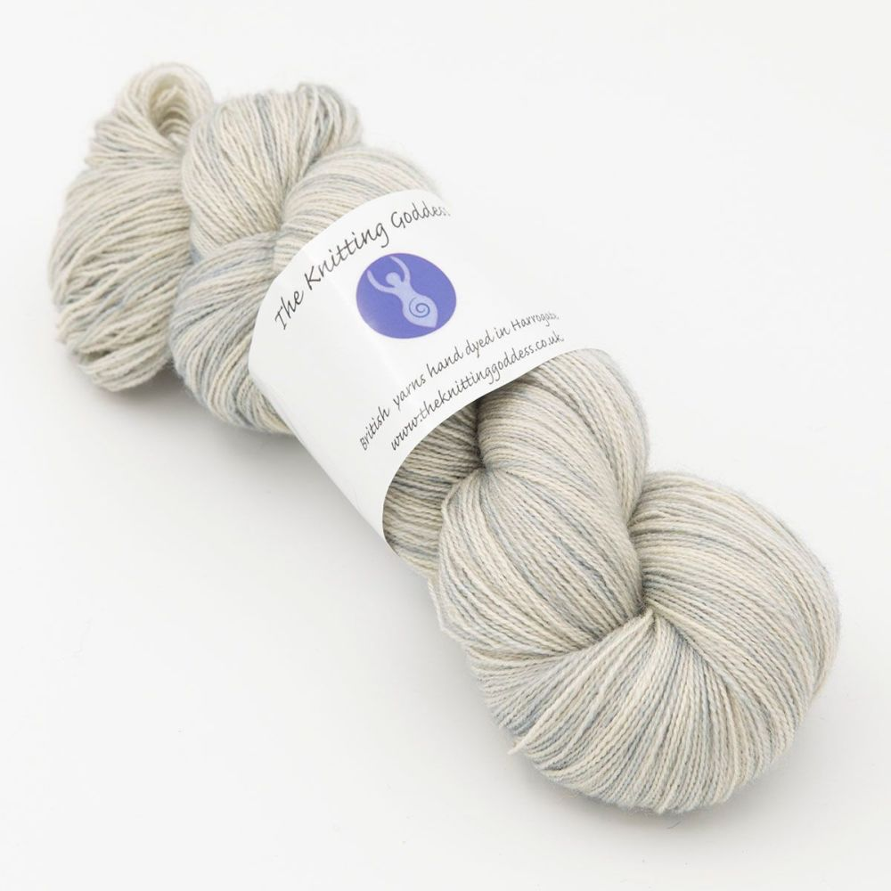 Moonbow Lace Weight BFL and Silk -  Pearl