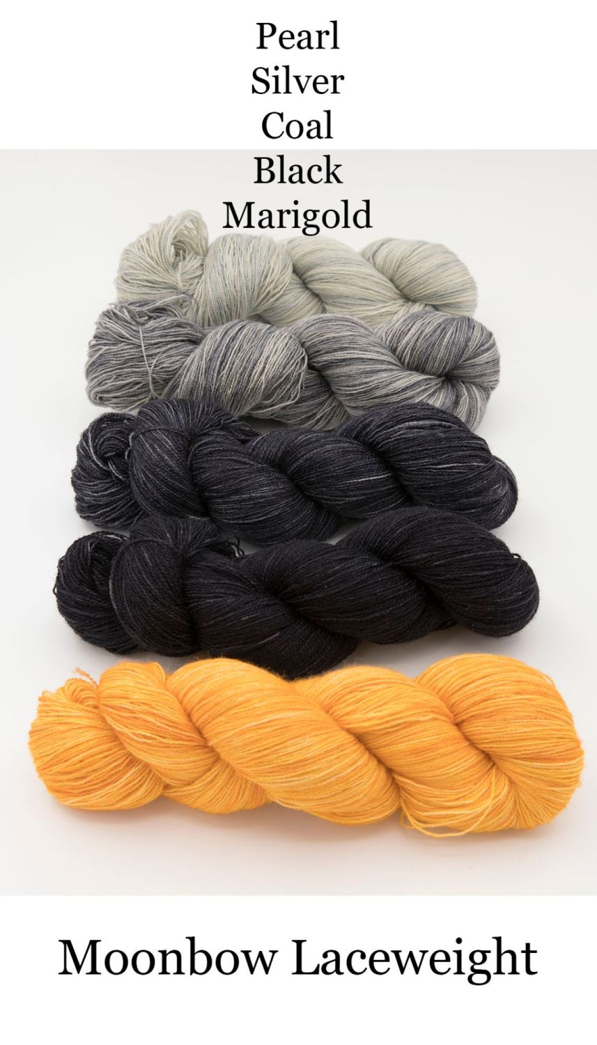moonbow pearl silver coal black marigold