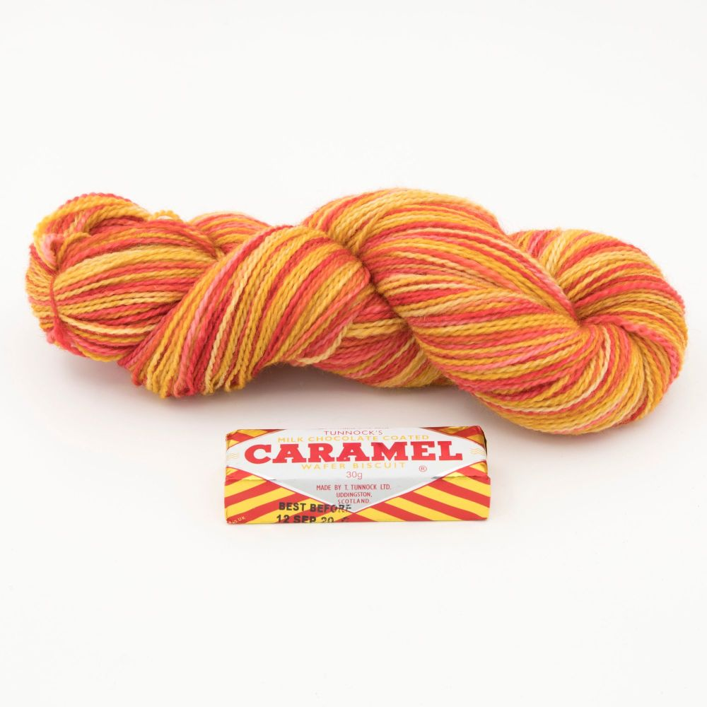 4ply BFL & Nylon - Tunnocks Caramel Wafer