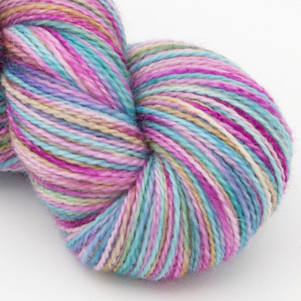 faded rainbow-blue-faced-leicester-nylon-sock-yarn-british-indie-hand-dyed-