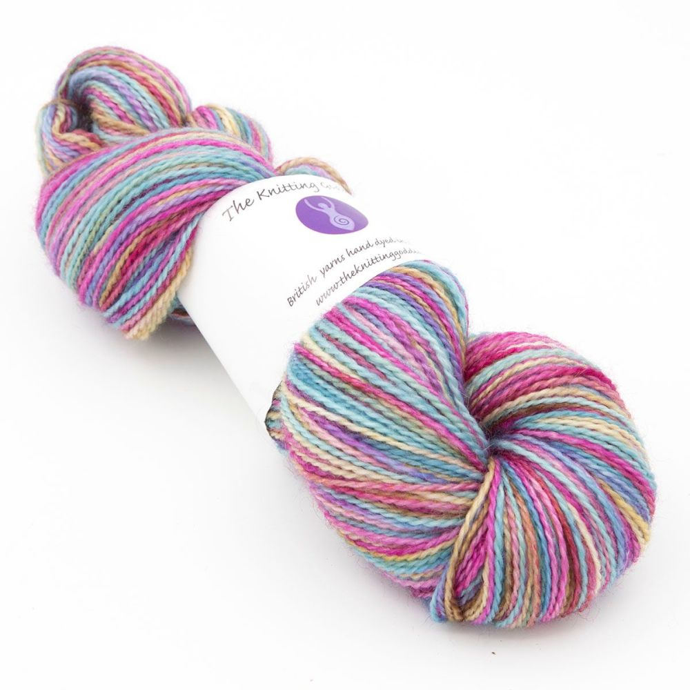 4ply BFL & Nylon - Faded Rainbow