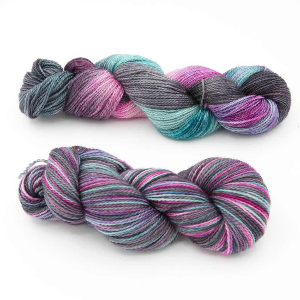 unicorn-delight-duo blue-faced-leicester-nylon-sock-yarn-british-hand-dyed-