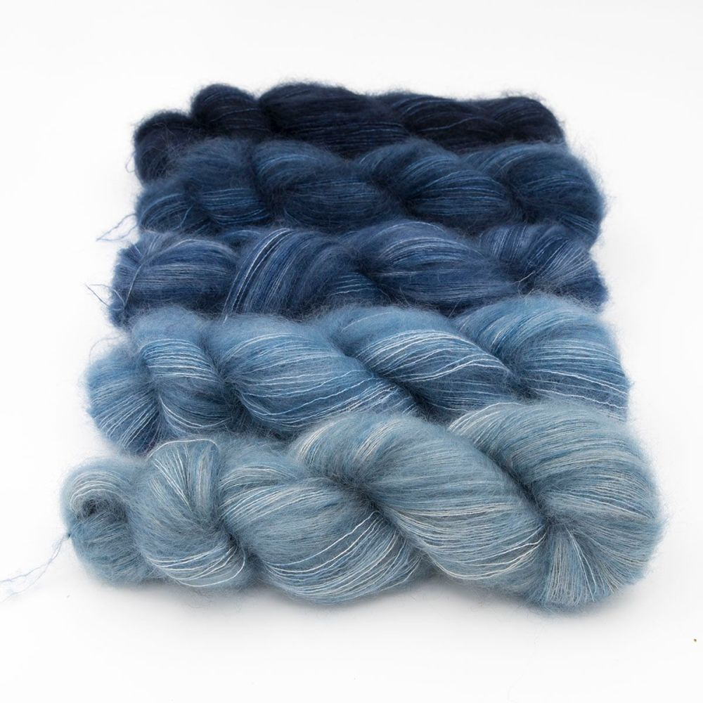 moonbroch superhero genes group kid mohair silk fluffy hand dyed yarn indie