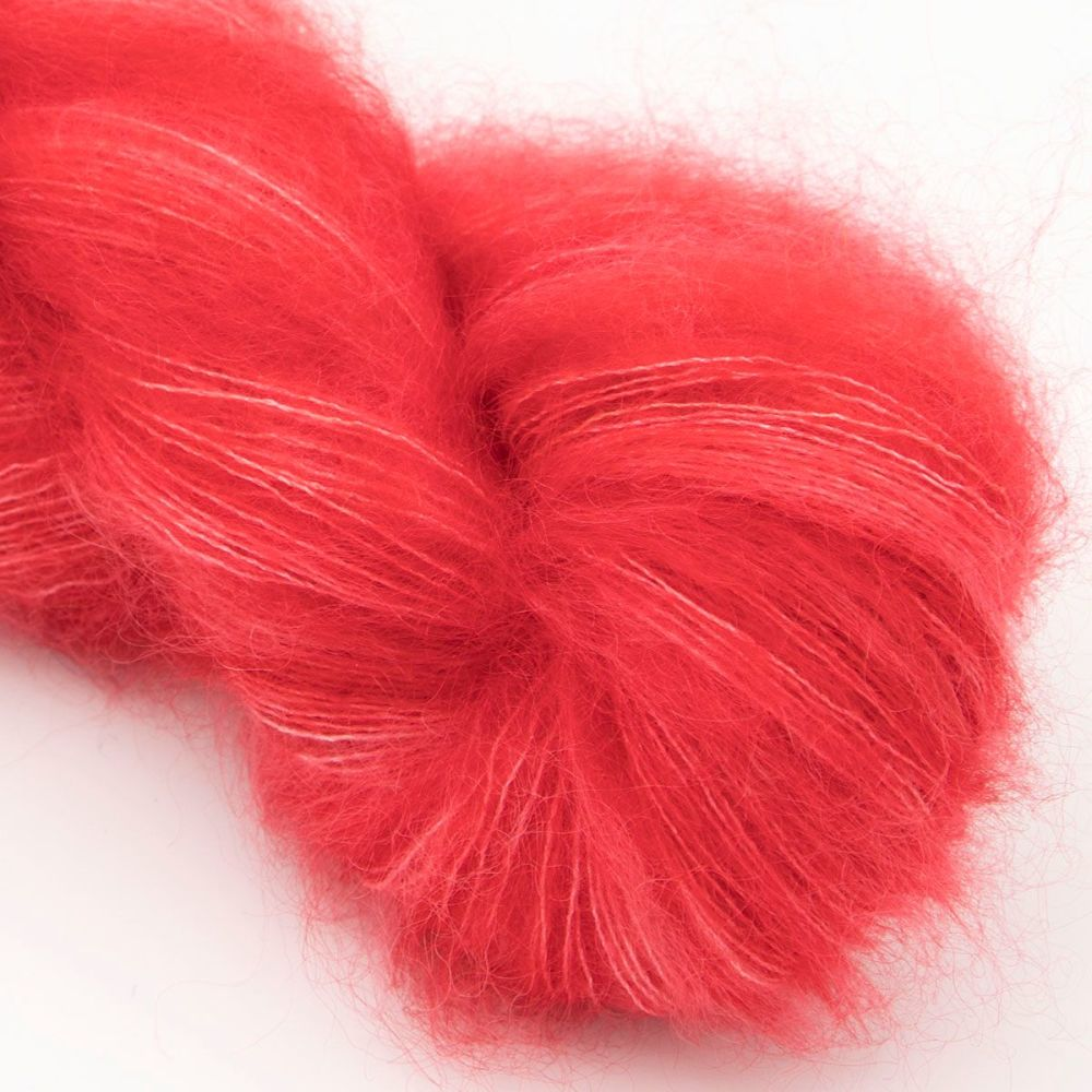 moonbroch red kid mohair silk haze hand dyed yarn indie uk yorkshire