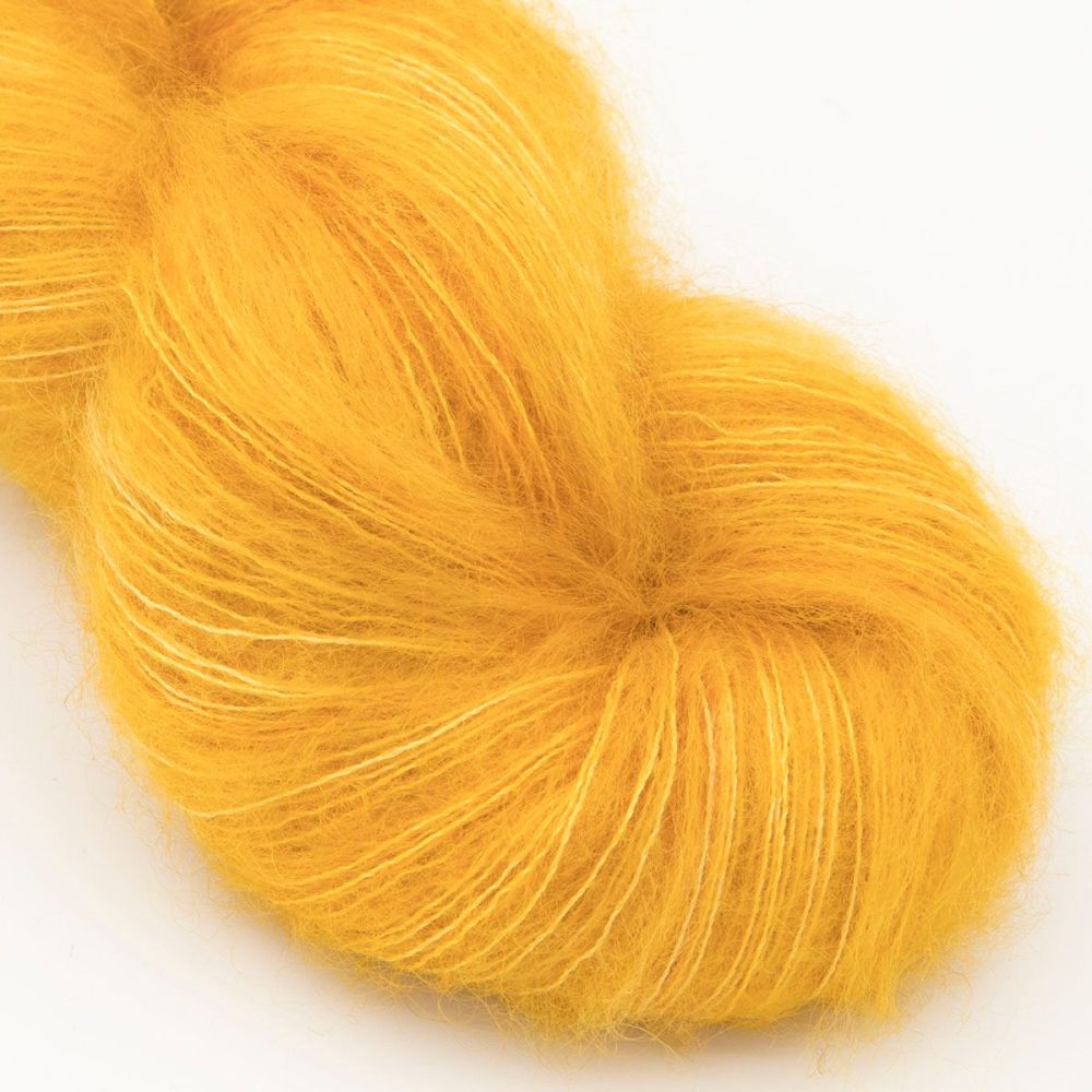 moonbroch gold kid mohair silk haze hand dyed yarn indie uk yorkshire