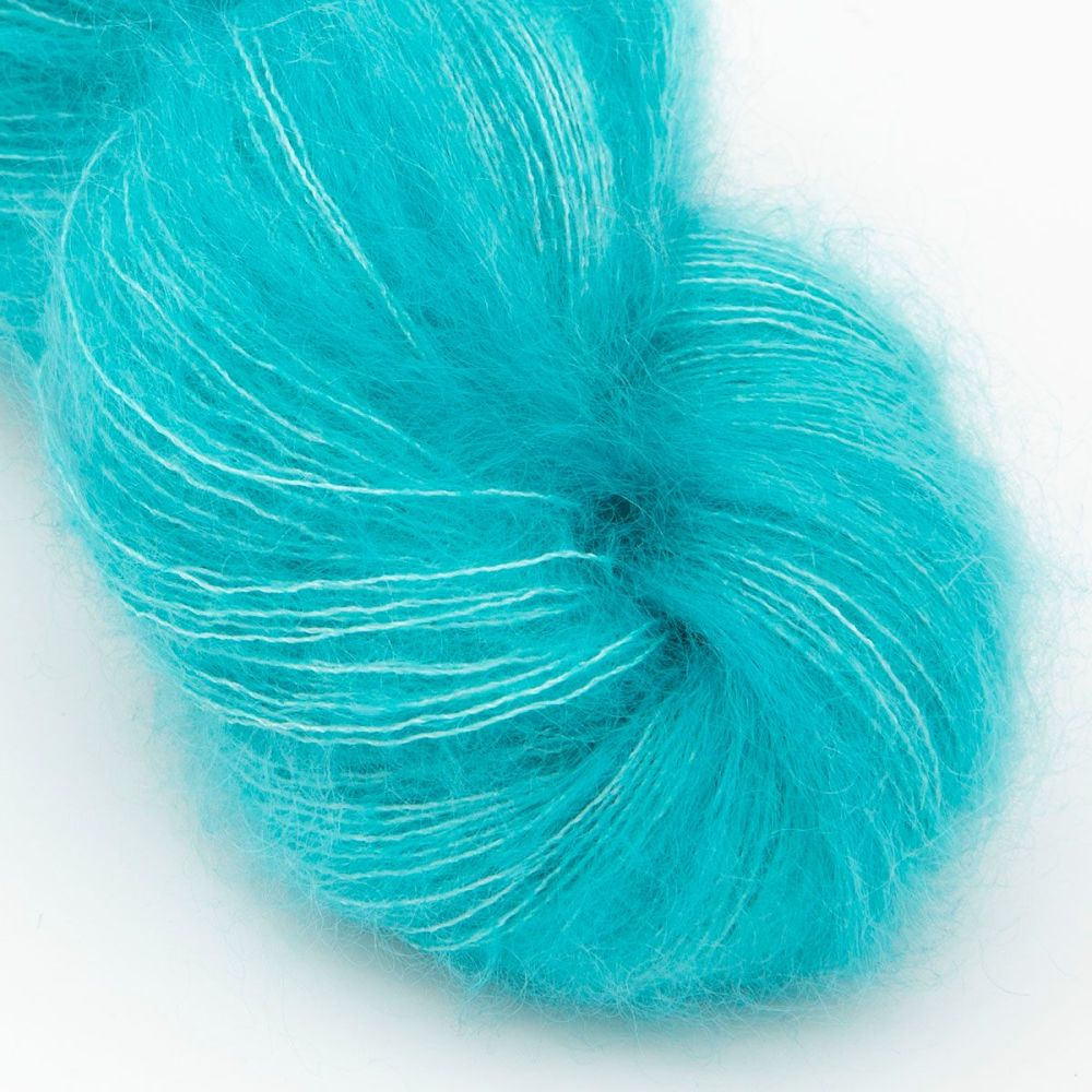 moonbroch turquoise kid mohair silk haze hand dyed yarn indie uk yorkshire