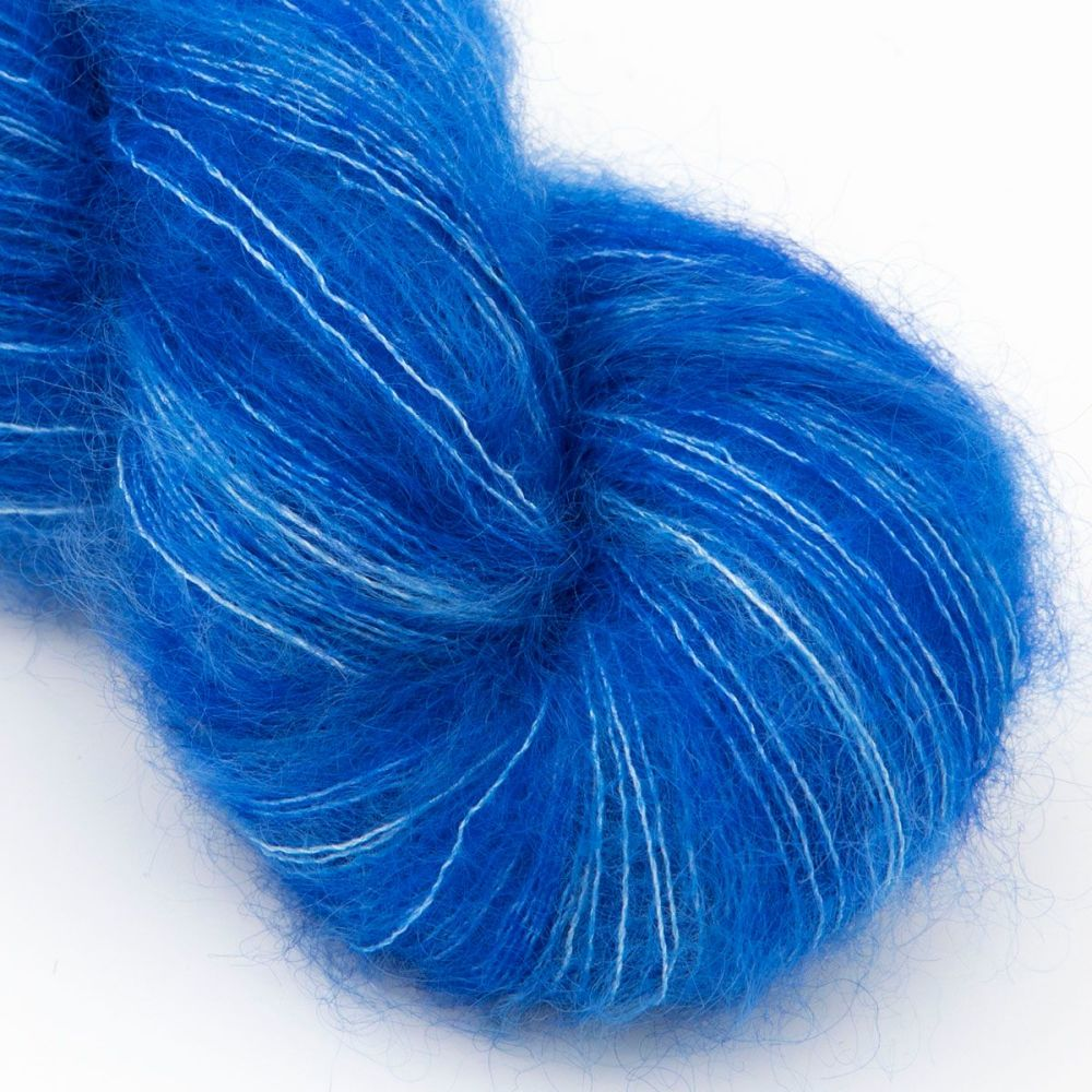 moonbroch blue kid mohair silk haze hand dyed yarn indie uk yorkshire