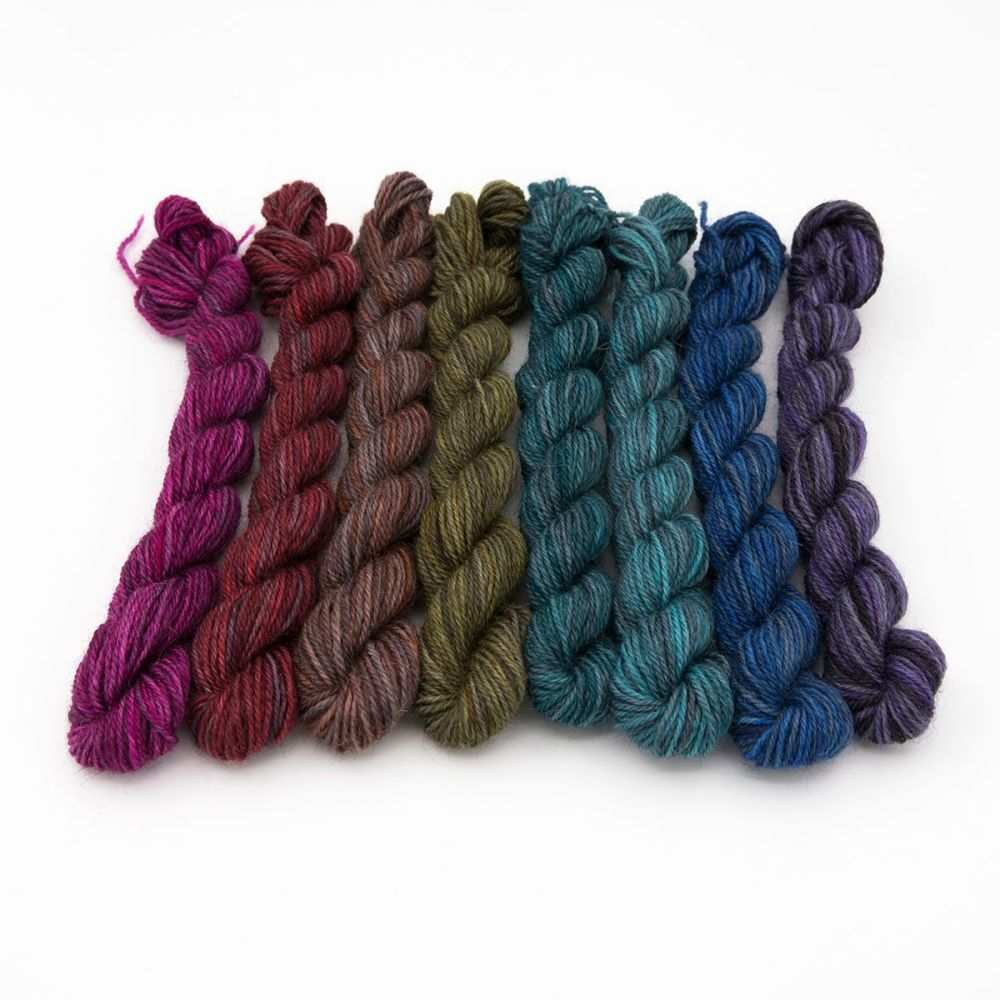 Coal Pride Rainbow mini skeins