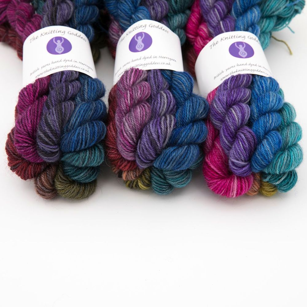 trio 2 pride rainbow mini skein britsock-blue-faced-leicester-wensleydale-a