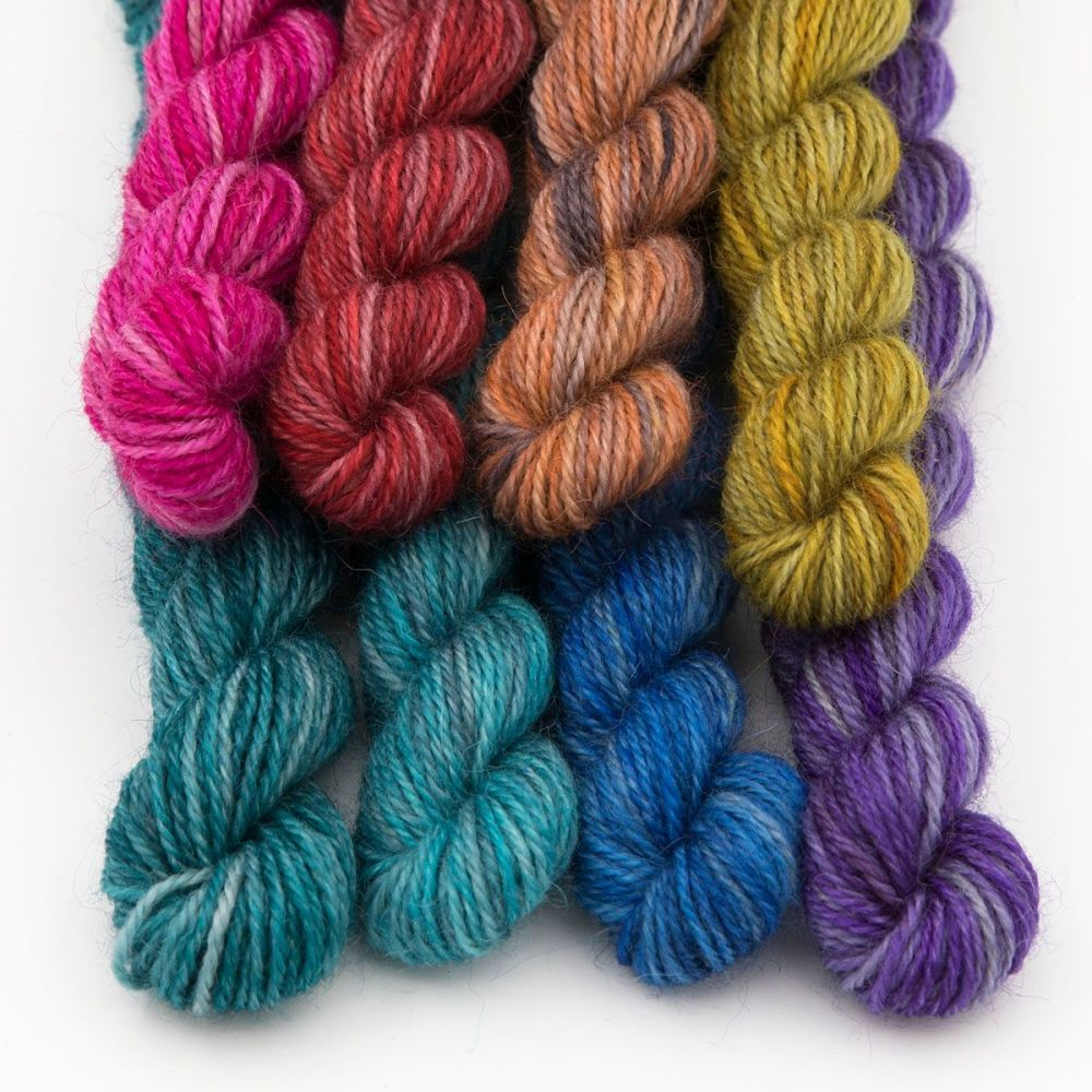 silver pride rainbow mini skein-britsock-blue-faced-leicester-wensleydale-a